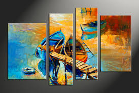 Ocean Home Decor by 2 Piece Blue Ocean Oil Paintings Photo Canvas