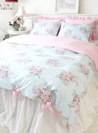 Shabby Chic Queen Sheets by Shabby Chic Cottage Floral Quilt Duvet Cover Set Blue Pink Check