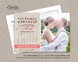 Diy Save The Dates Calendar Wedding Photo Save The Date Postcard Diy Printable