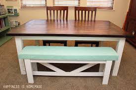 diy farmhouse table u0026 bench happiness is homemade