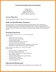 resumes for personal assistants personal assistant resume summary