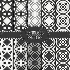 moroccan wrapping paper set of geometric line monochrome lattice seamless arabic pattern