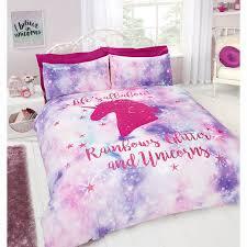 Unicorn Bed Set Rainbow Unicorn Duvet Set Bedding B M