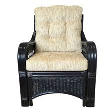 lounge armchair sherry color black with cushions handmade eco