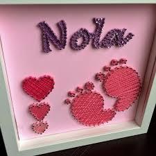 Personalised Baby Nursery Decor Personalised Baby String New Baby Nursery Decor New Baby