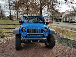 blue jeep 2 door randomly learned rugged ridge modular jeep bumper all terrain
