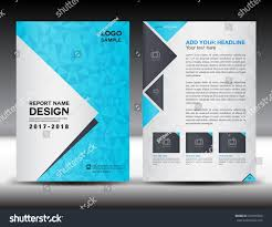 Newspaper Book Report Template Blue Cover Design Annual Report Template Stock Vector 439995658