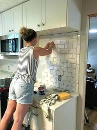 easy to install kitchen backsplash how to install a kitchen backsplash plus creative of installing tile