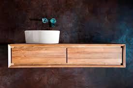 wall hung washbasin cabinet ceramic contemporary taylor