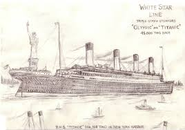 titanic u0027s approach to new york sketch by arridanchu on deviantart