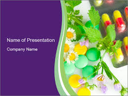 chemical pills vs herbs powerpoint template u0026 backgrounds id