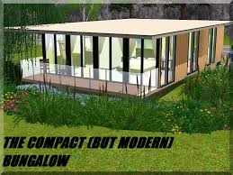 mod the sims the compact but modern bungalow