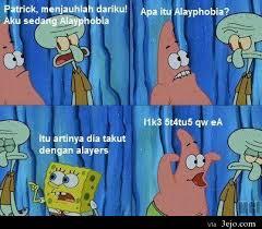 Meme Spongebob Indonesia - berkas alayphobia meme comic patrick spongebob jpg tolololpedia