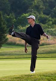 file president barack obama puts a little body english on his shot