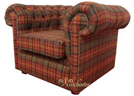 Low Armchairs Chesterfield Arnold Wool Tweed Club Chair Low Back Armchair