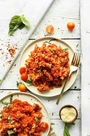 Pasta Recipes spicy red pasta with lentils minimalist baker recipes