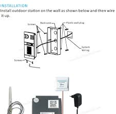 touch screen video door phone ip wireless wifi video intercom
