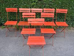 g182 set 8 vintage french folding garden patio café