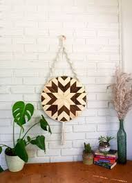 hazel macrame wood wall hanging by roaming roots