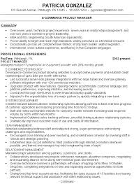 Project Manager Example Resume by Resume For An E Commerce Project Manager Susan Ireland Resumes
