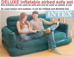 canap intex intex deluxe matelas gonflable canapé 2 personne salon chaise canapé