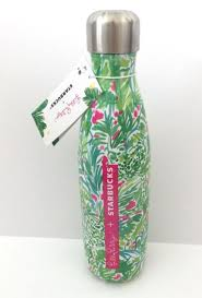 starbucks lilly pulitzer swell lilly pulitzer starbucks swell s well water bottle 17oz palm beach