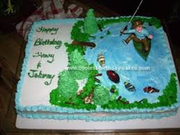 fish birthday cakes cool fishing birthday cake with fish candies