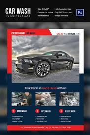 auto detailing flyer template professional car wash flyer template