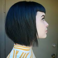 hair extensions for bob haircuts bella micro bang asymmetric blue extensions bobs pinterest
