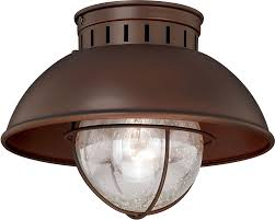 Outdoor Porch Ceiling Light Fixtures by Vaxcel T0143 Harwich Vintage Burnished Bronze Outdoor Overhead