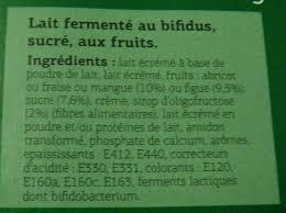 8 Pots by Bifidus Brassé Figue Abricot Mangue Fraise 8 Pots Dia 1