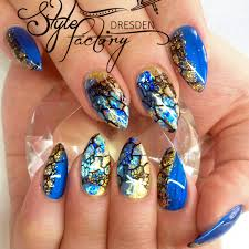 art tutorial metallic blue and gold gel