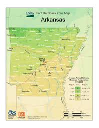 State Of Arkansas Map State Maps Of Usda Plant Hardiness Zones