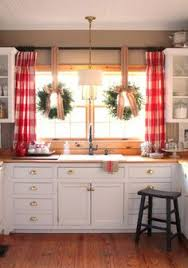 Kitchen Curtain Ideas The Black And White Buffalo Check Curtains Colors