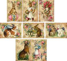 vintage rabbit vintage easter 8 bunny rabbit antique pictures note cards tags