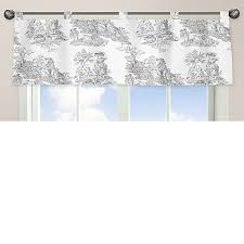 Toile Window Valances Sweet Jojo Designs French Toile Window Valance In Black Cream