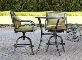 Small Patio Table And Chairs by Garden Oasis Bowery 3pc Stamped Back Tall Bistro Set With Swivel