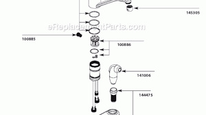moen kitchen faucet parts diagram astounding moen ca87554c parts list and diagram on kitchen
