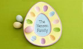 ceramic egg plate personalized family egg platter groupon goods
