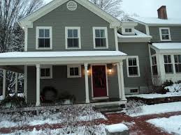 alluring house design with interesting exterior paint colors red