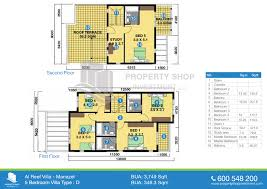 floor plan of desert style al reef village
