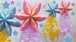 last minute christmas decoration idea paper parol youtube