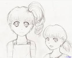 how to draw easy girls step by step anime characters anime
