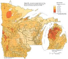Map Of Northern Wisconsin by Ha 730 J Surficial Aquifer System Text