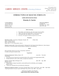 Childcare Resume Templates Resume Work History Format Resume Sample Retail Work History