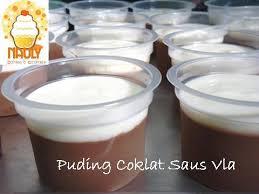 membuat puding fla santy s kitchen puding coklat saus vla
