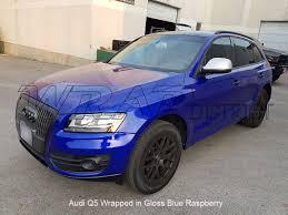 Audi Q5 Blue - audi q5 wrapped in gloss blue raspberry wrap district