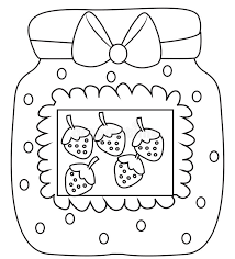 strawberry jam coloring page stock illustration image 52718413