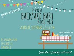 backyard bash flyer on behance