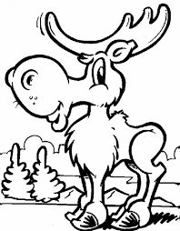 christmas moose coloring pages getcoloringpages com